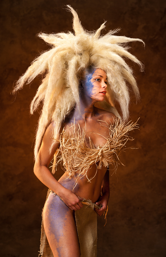 Ava Ward models Toni & Guy Salon's Tribal Fantasy Hair
