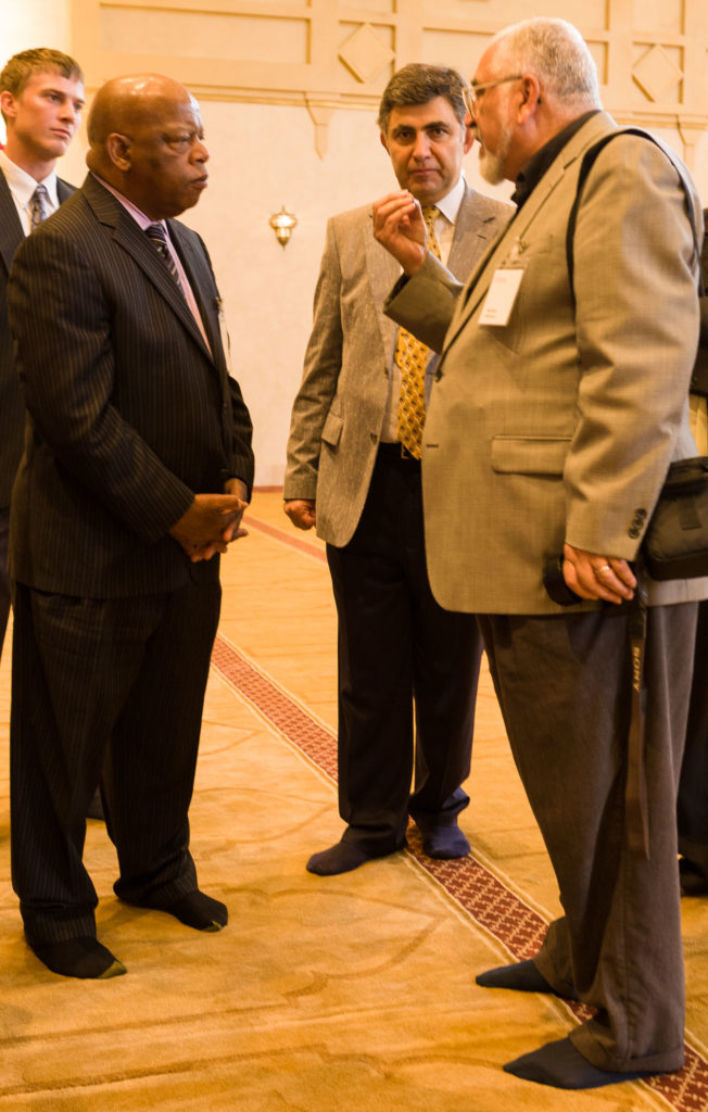 John Lewis with guests at the dedication of the Al-Farooq Mosque in Atlanta, Georgia August 17, 2008. Photo by Kevin Ames